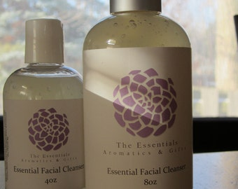"""Essential Facial Cleanser 8oz scented with """"Mona Lisa"""" essential oil blend"""