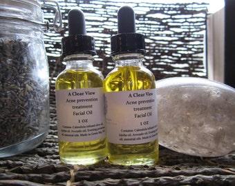A clear view Facial moisturizing oil 1 oz