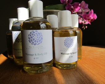 The Essentials Massage & body oil 4 oz scented with gypsy rose blend