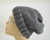 Grey Wool Beanie for Men and Women
