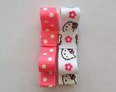 Hello Kitty and Hot Pink Polka Dots Clippie Set