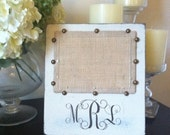 Personalized Burlap Picture Frame