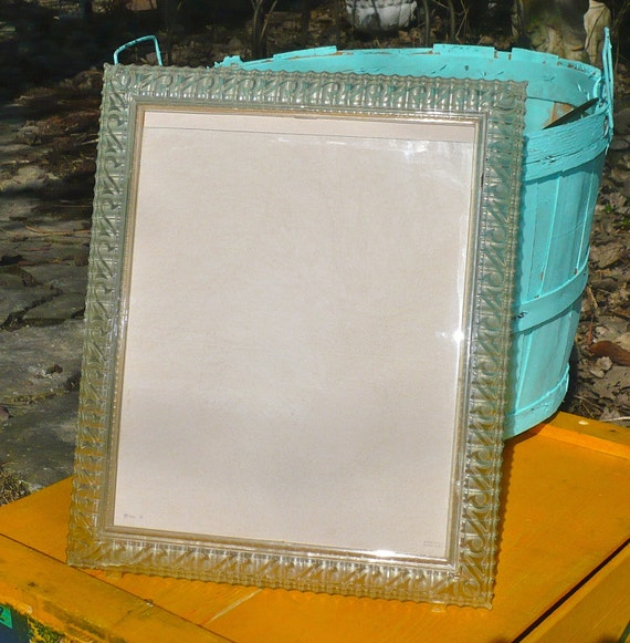 clear plastic picture frame vintage mid century by casakarmadecor. Black Bedroom Furniture Sets. Home Design Ideas