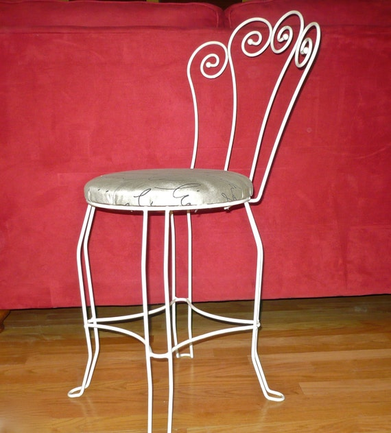 Parlor Chair Vintage Metal Chair Vanity Chair French