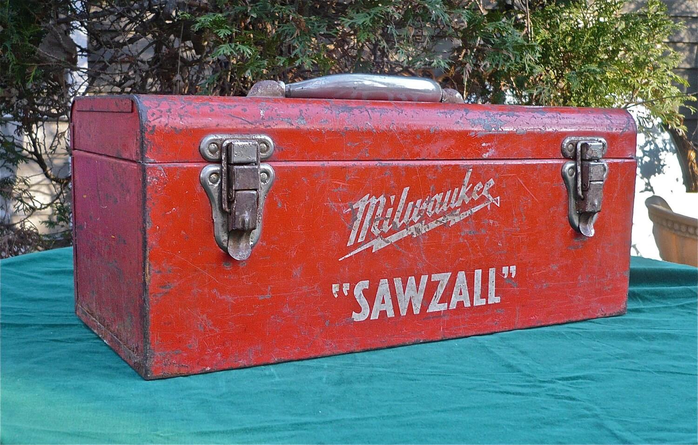 Tool Box Metal Vintage Milwaukee Sale