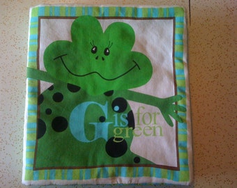 G Is For Green Fabric Baby Book
