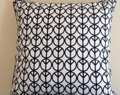 Decorative pillow ,design cushion, peace and love, black and white