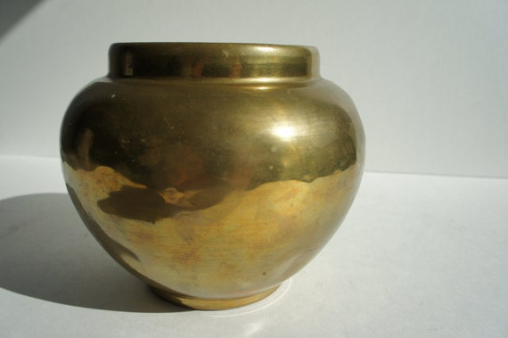 Vintage Heavy Brass Vase with lots of patina