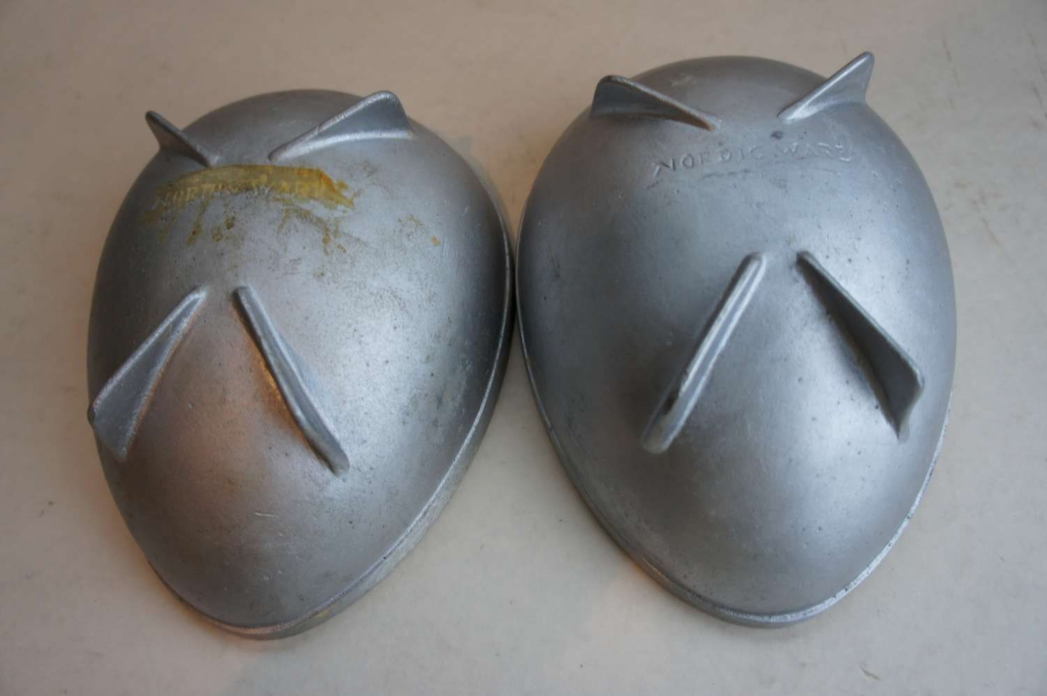 Industrial Vintage Cake Pans By Nordic Ware Egg Shaped