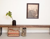 Bench 5' Long - Reclaimed Wood and Solid Steel by Dylan Design Company
