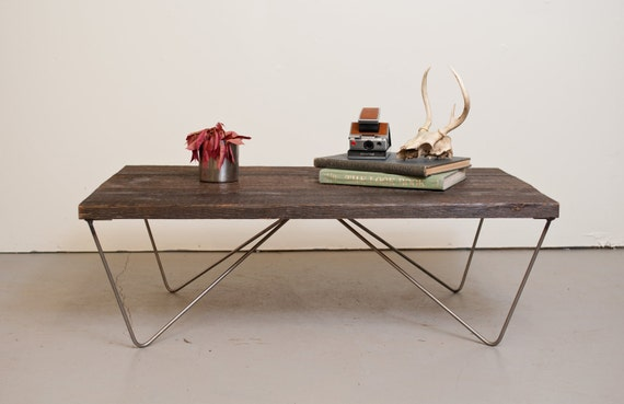 Coffee Table- Reclaimed Wood Salvaged from the Baltimore Harbor