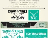 Custom Designed Logo, Etsy Banner, Avatar, and 250 Business Cards: BRICK & MORTAR Collection
