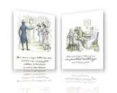 Jane Austen Pride & Prejudice Postcards with Austen Quotes and Hugh Thomson's Illustrations