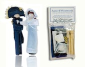 Jane Austen Clothespin Doll Ornament Kit: Anne and Captain Wentworth