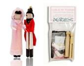 Jane Austen Clothespin Doll Ornament Kit: Lydia Bennet & Mr. Wickham