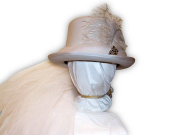 Austentation Jane Austen Regency Riding Hat (Top Hat): Catherine