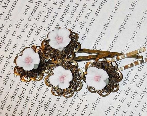 Jane Austen Inspired Rose Hairpins by Austentation
