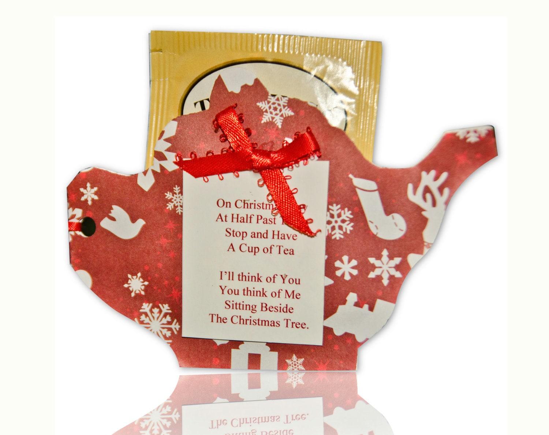 Tea Bag Christmas Ornaments Pack Of 5