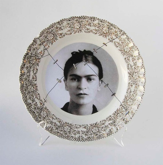 Frida Kahlo Art Plate