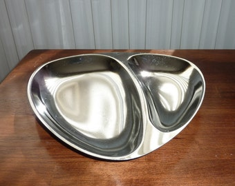 Vintage Milbern Divided Chrome Tray