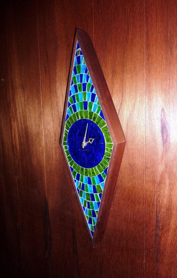 Reserved for John - Georges Briard Art Tile Clock - Mid Century Danish Modern