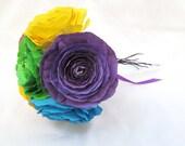 6 Stem Colorful Paper Flower Bouquet
