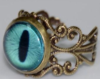 Blue Dragon's Eye Ring
