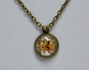 Unique Nautical Octopus Necklace - Choose Silver or Antique Brass