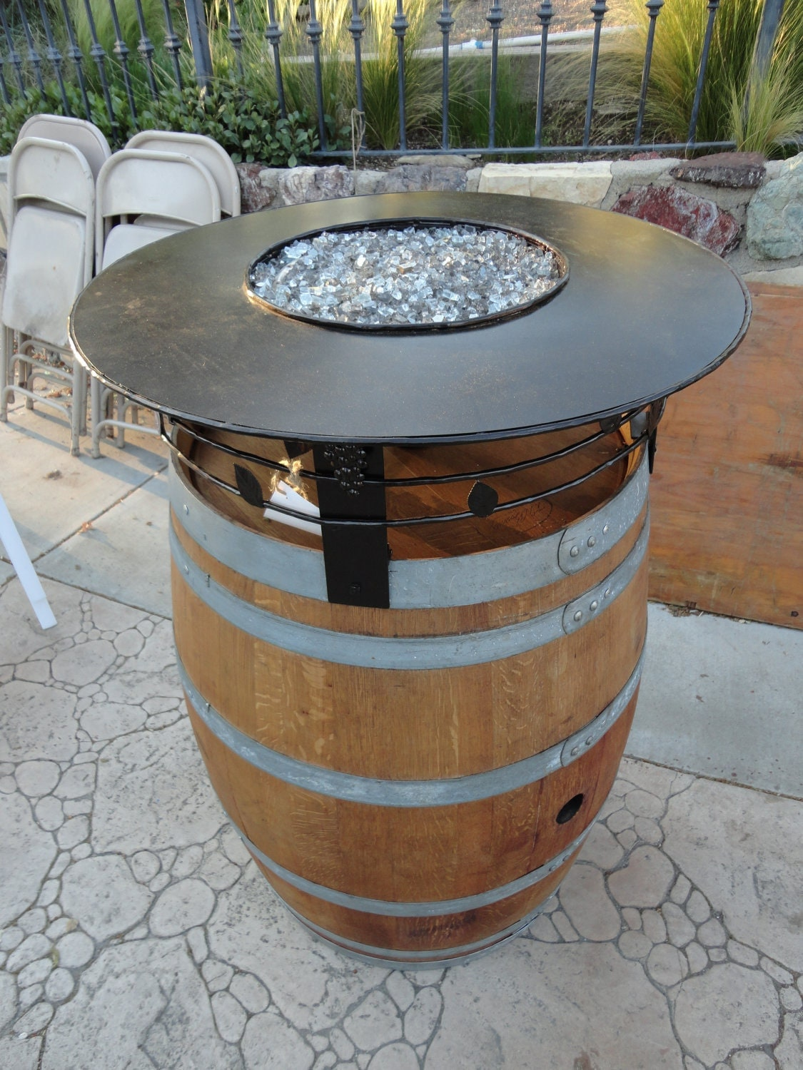 Wine Barrel Fire Pit By Leasureconcepts On Etsy