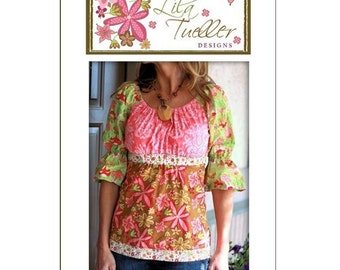 Funked Out Peasant Blouse No 11  Pattern by Lila Tueller Designs