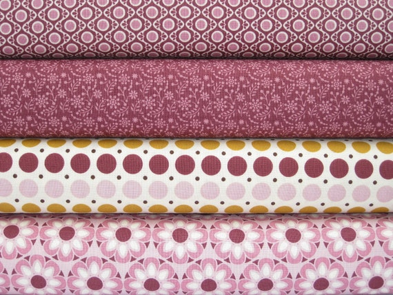 LAST ONE  PURPLE Fat Quarters, Riley Blake - So Sophie Collection, Lot of 4 Cotton Quilting Fabric