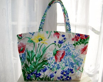 Tote Bag Market Shopping Bag One of a Kind Purse Eco-Friendly Vegan Beach Knitting Carry-On Shoulder Bag Laptop Upcycled Fabric Custom Bag