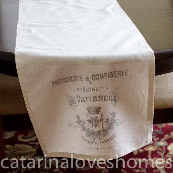 Vintage French Linen Table Runner