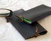 Simple leather glasses case - unique and original