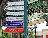 St. Thomas Blackbeard's Castle Street Signs Photo by Kellee Fabre Photography size 8x10