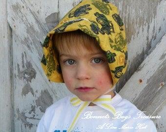 John Deere Hat Handkerchief bonnet - Toddler Bonnet Sun Play Beach Bonnet - Baby Hat John Deere Toddler Hat Boy or Girl Hat