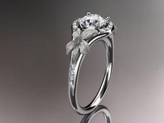 platinum diamond leaf and vine wedding by anjaysdesigns etsy