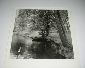 Vintage ORIGINAL Black and White Photo of River Scene Original Photo Original Art Arkansas River