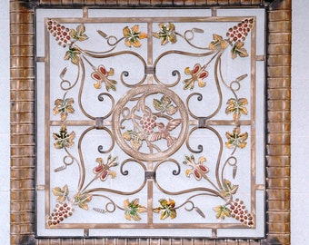 "Tuscan Metal Wall Art Piece - Measures 38""X38"""