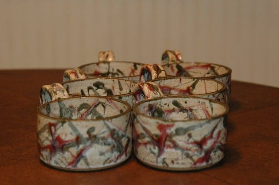 Lukas Pottery - Soup Cups - Sodus Point NY 1997