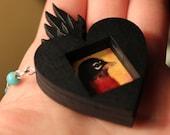 Robin Flaming Heart Talisman