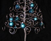 Christmas Tree Ornament Display Holder Silver Wire Holiday Tree Centerpiece-Ready to Ship-LARGE