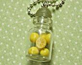 jar of lemons necklace