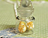 jar of cupcakes necklace