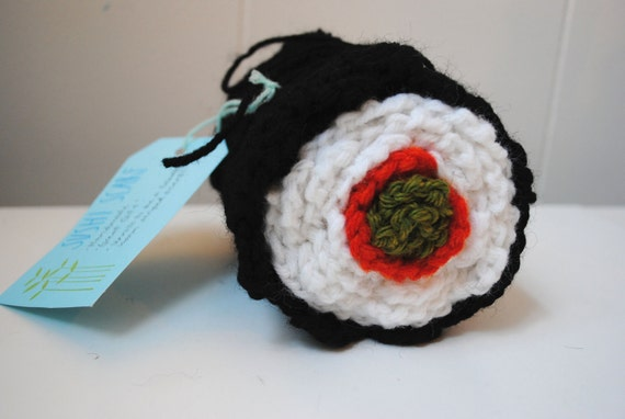 Sushi Scarf (unrolls to be a full length scarf)