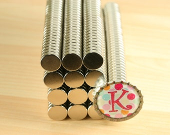 25 Super Strong 1/8 inch thick X 1/2 inch /Neodymium Rare Earth Magnets-perfect for bottle caps and scrabble tiles. 1/2 inch x 1/8 inch