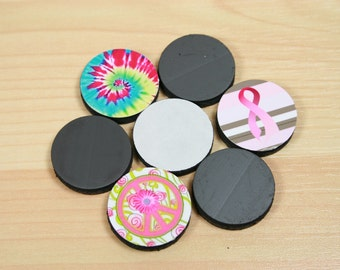 25 Adhesive Backed Craft Magnets - 1 inch -