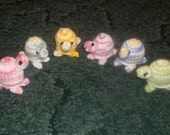 Custom Order - Reserved for turtlelover785 - Six Amigurumi Knitted Turtles