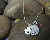 Custom Hand Stamped Soccer Ball Charm Necklace for Toddler or Girl Who Loves Sports