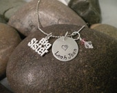 Custom Hand Stamped Big Sister Charm Necklace